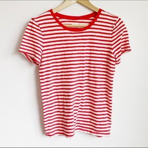 red and white striped summer tshirt
